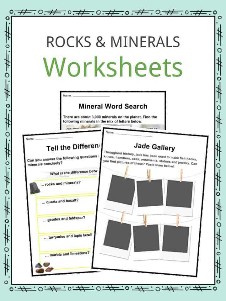 Download the Rock and Mineral Facts & Worksheets