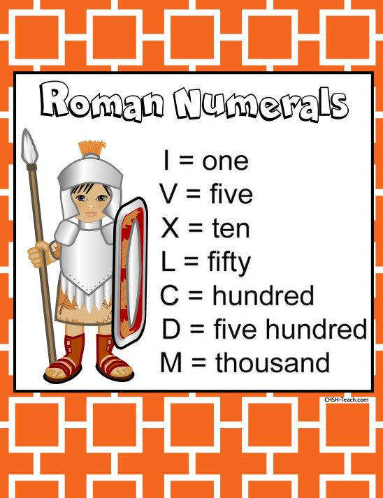 Roman Numerals Worksheets Flash cards and a Lapbooking Unit Lynda Ackert Pulse