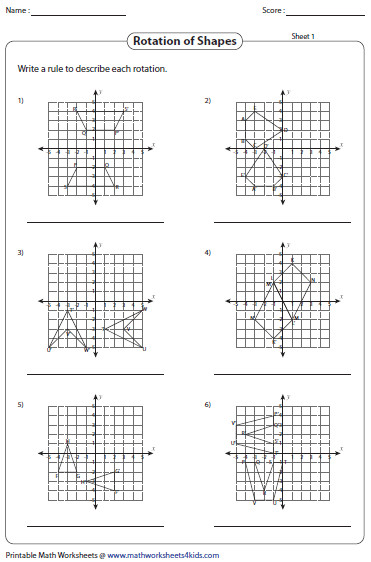 Worksheets Geometry Rotations Worksheet rotation worksheets