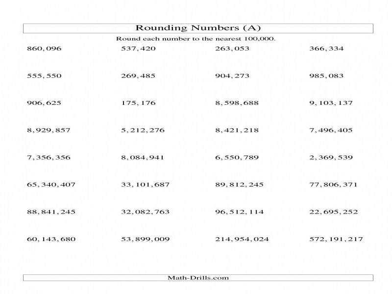 Rounding Numbers To The Nearest 100 000 U s Version A