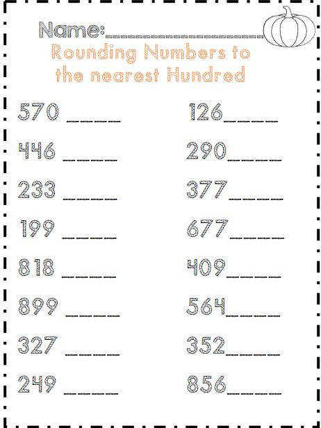 Rounding numbers to the nearest hundred part of 35 page mon core aligned packet for