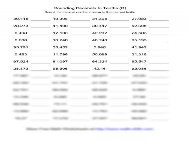 Rounding To The Nearest Thousand Worksheet Worksheets