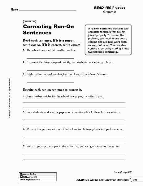 Run Sentences Worksheet Fresh Ideas About Free Printable Sentence Worksheets Bridal Catalog
