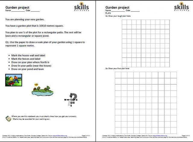 Scale Drawing Lesson And Worksheet Unit 1 Ratios Proportions Degree Contextual Resources Skills Workshop