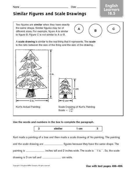 Scale Drawing Worksheet 7th Grade Snapshoot Scale Drawing Worksheet 7th Grade Similar Figures And Drawings English