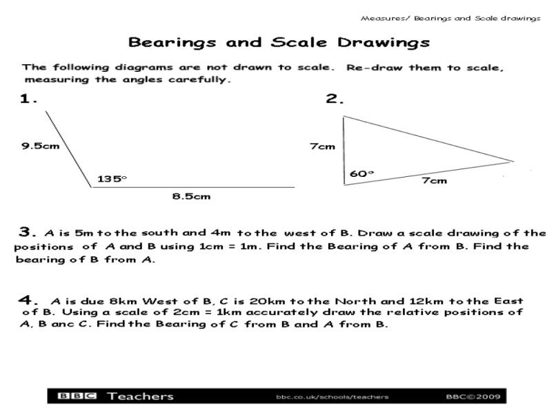 Maps And Scale Drawings Worksheet Free Worksheets Library