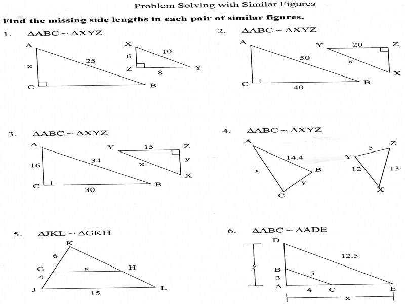 Geometry Scale Factor Worksheet Worksheets