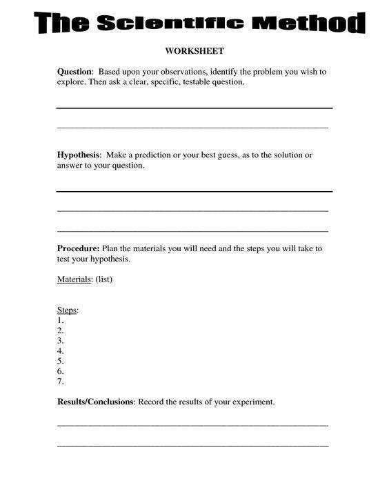 Printables Scientific Method Worksheets 5th Grade 4th grade science math and worksheets on pinterest scientific method