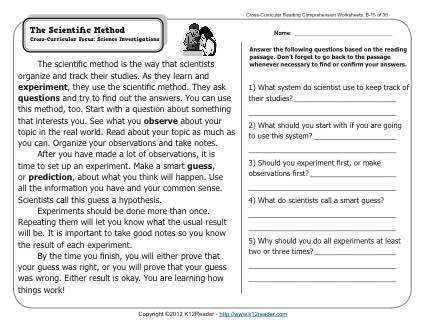 Scientific Method Worksheets