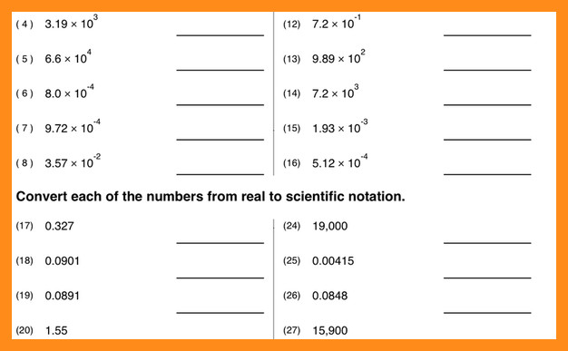 Worksheet Scientific Notation Worksheets For
