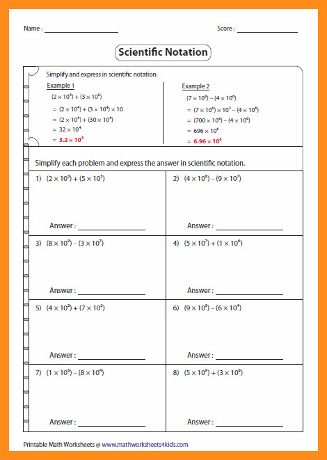 scientific notation worksheet d sub large