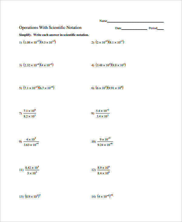 Scientific Notation Worksheets Homeschooldressage. Operations Scientific Notation Worksheet. Worksheet. Scientific Notation Worksheet Mon Core At Clickcart.co