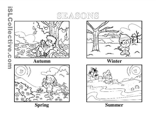 seasons worksheets for kindergarten Termolak