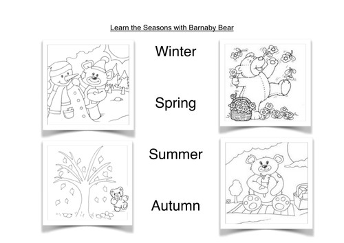 Barnaby Bear and the Four Seasons by loretolady Teaching Resources Tes