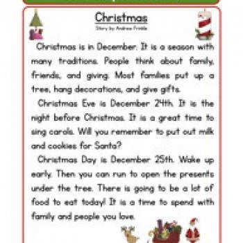 Second Grade Reading prehension Worksheet Holiday Stories Christmas