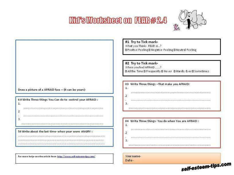Free Downloadable Therapeutic Worksheets for Children and Teens · 1000 ideas about Self Esteem