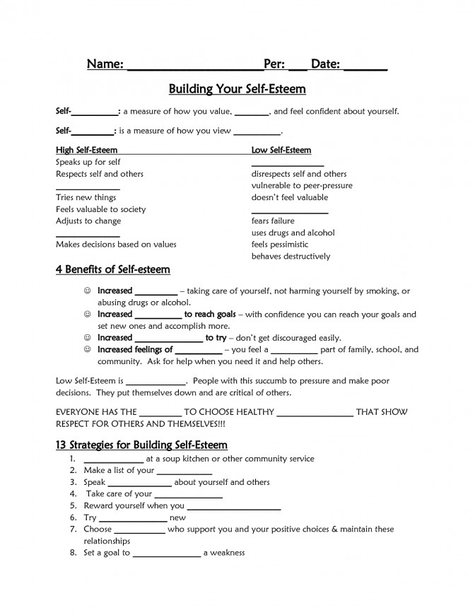 Self Esteem Worksheet Google Search Confidence Tips Lesson Plans For Elementary Grades 6d c c9ea05d510 Self Esteem Lesson