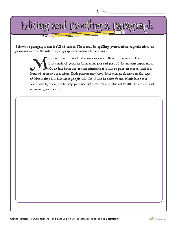 Sentence Correction Worksheets | Homeschooldressage.com