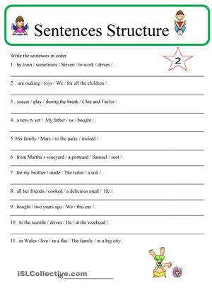 Download 26 Free Esl Sentence Structure Worksheets