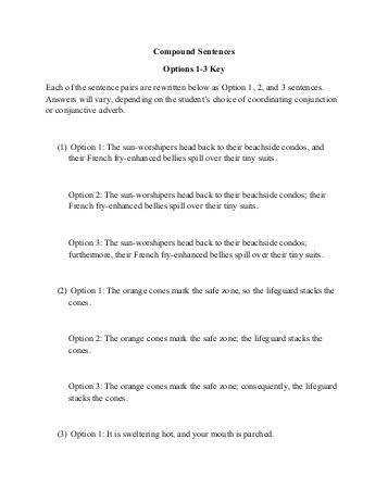 pound Sentences Options 1 3 Worksheet Key pdf Story Bayou