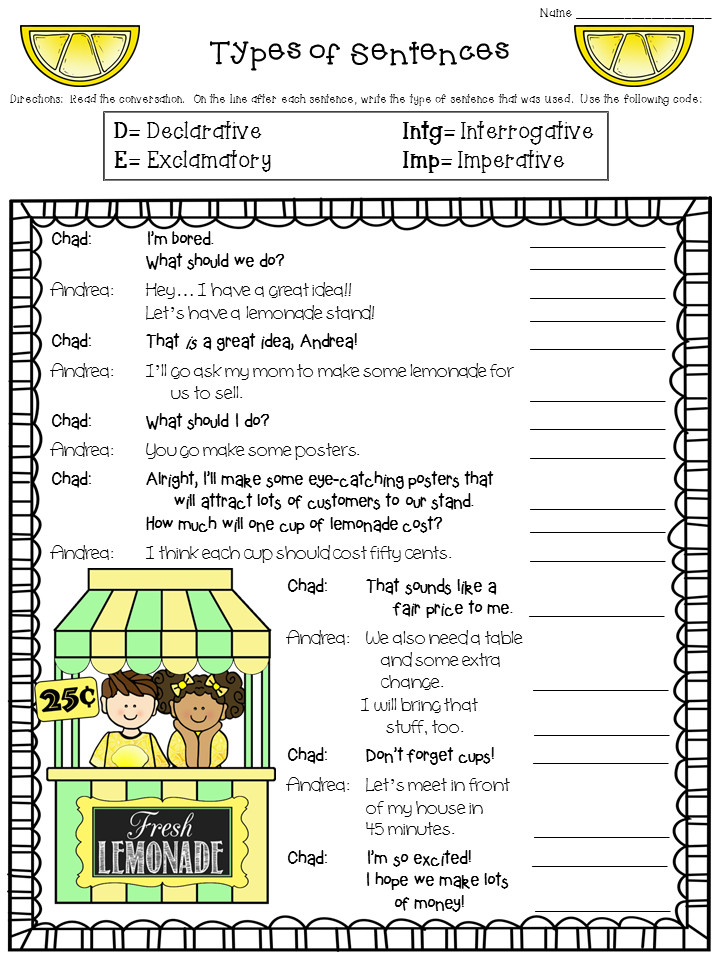 Are you teaching students to identify the four types of sentences Check out this free