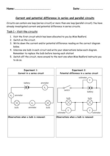 Series and parallel NEW KS3 by hannahradford Teaching Resources Tes