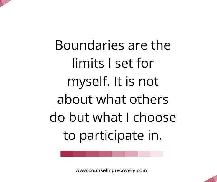 Image result for setting boundaries is more about you than the other person