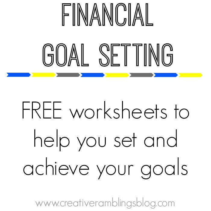 scroll down to this worksheet Goal setting 101