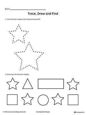 Trace Draw and Find Star Shape
