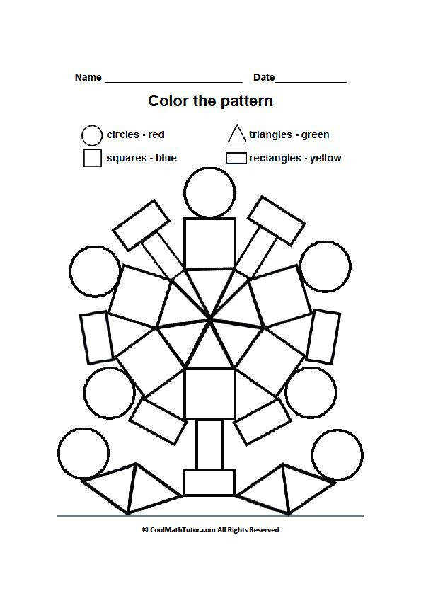 Colouring Worksheets Shapes Best images about esy on the shape
