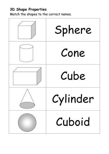 A selection of worksheets which can help younger children identify and describe the properties of basic and shapes