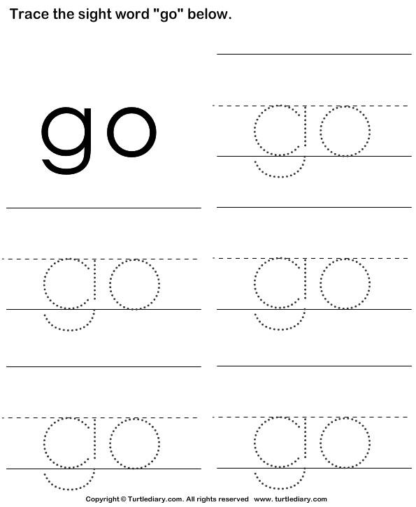 Trace the Sight Words