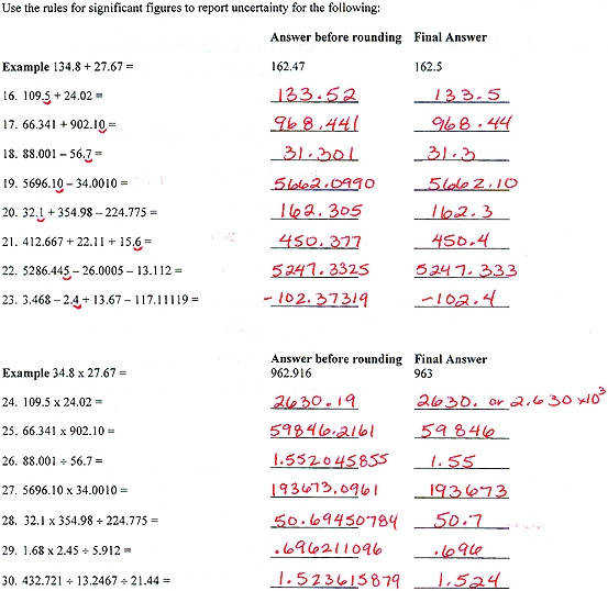 Popular Chem Skills Worksheet 3 Significant Figures Answers Worksheets