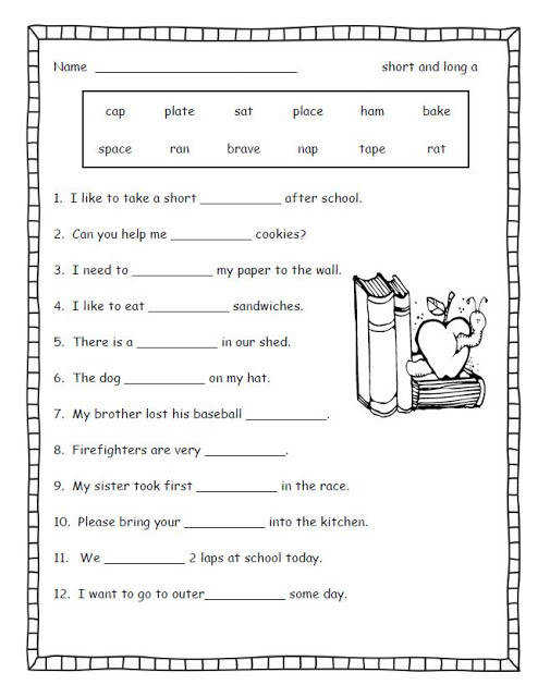 Here are some free worksheets for long and short vowels Just click on the picture to