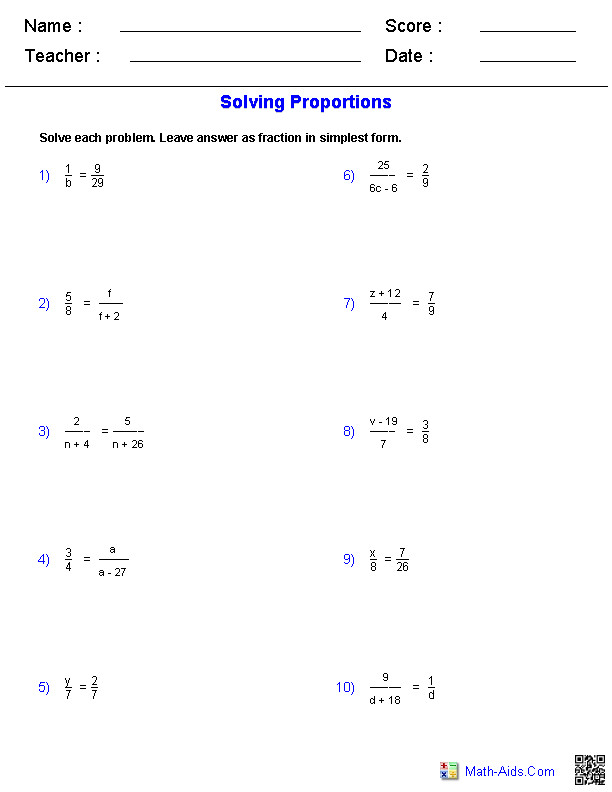Similarity Worksheets