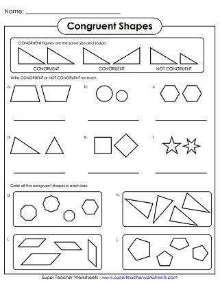 Congruent Shapes Worksheet Similar Congruent Shapes Printable