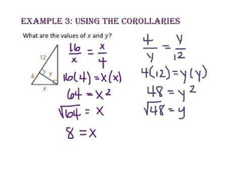 7 4 Similarity in Right Triangles