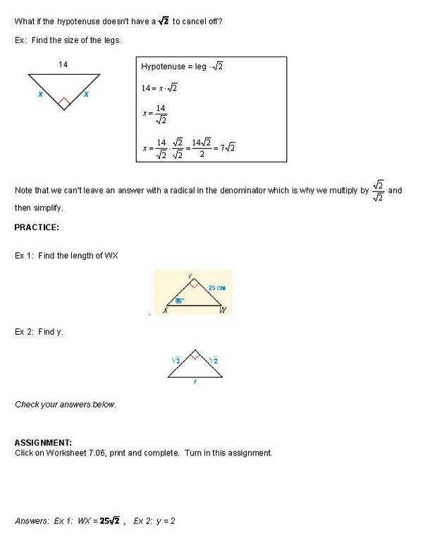 15 Must see Special Right Triangle Pins