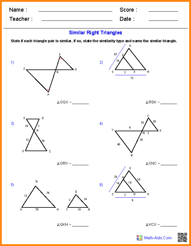 similar triangles worksheet. Black Bedroom Furniture Sets. Home Design Ideas