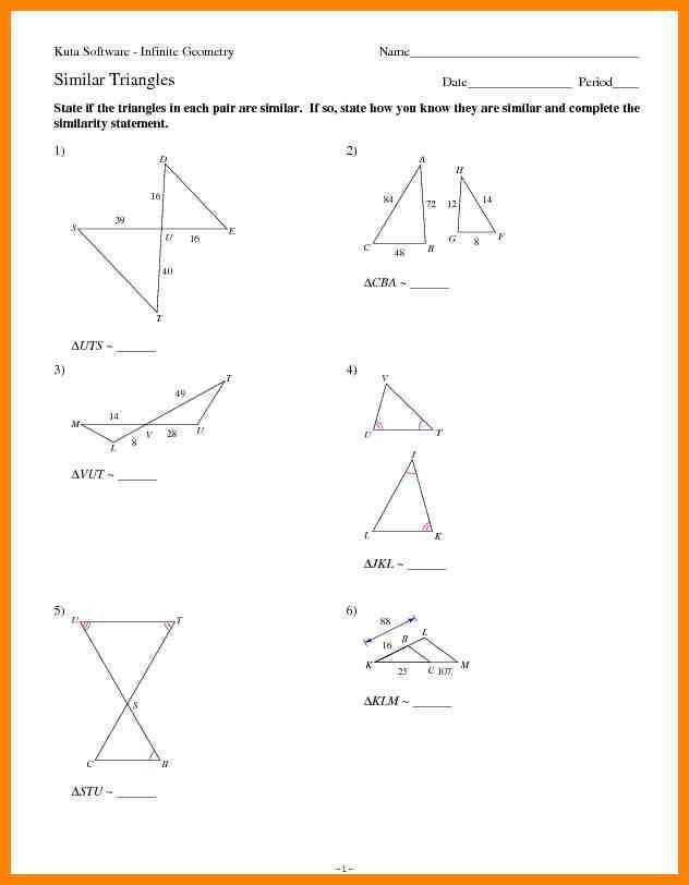 similar triangles worksheet ody2otiwlmpwzw