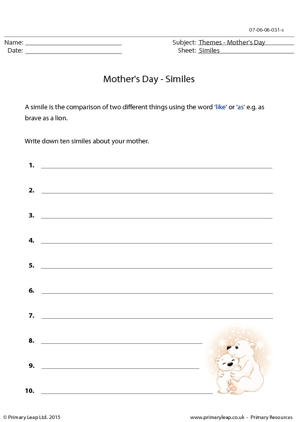 Mother s Day Similes