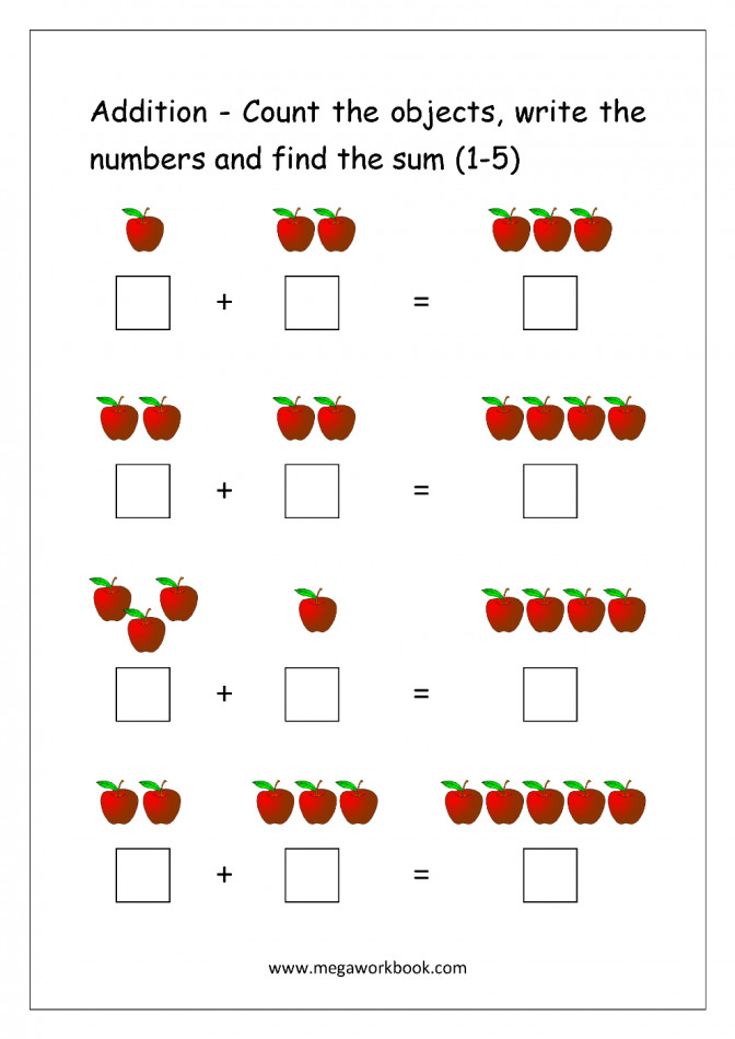 Adding Two One Digit Numbers Sums up to Ten Worksheet - Turtle Diary