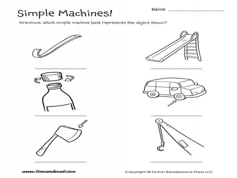 Simple Machines Worksheet – Tim s Printables