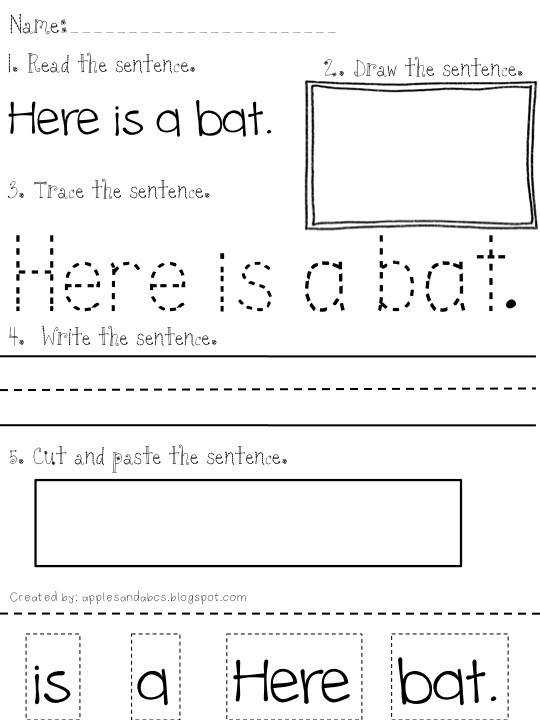 ELL Time Reading and Writing Simple Sentences Use this template to make similiar worksheets