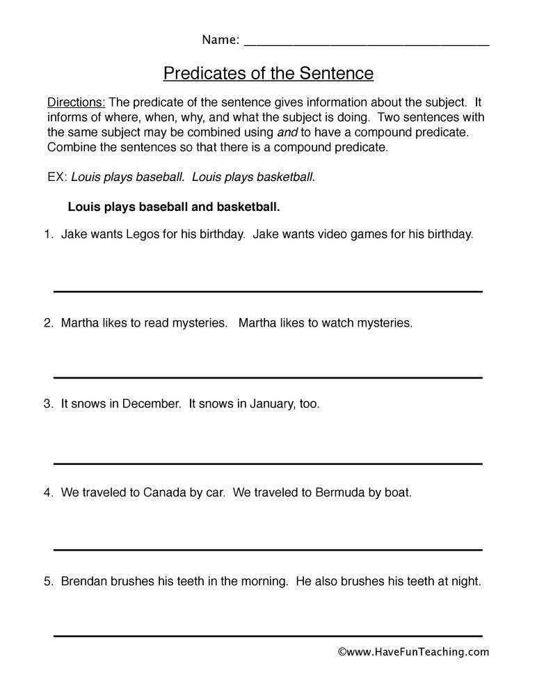 Worksheets pound Subject And Predicate Worksheet pound predicates worksheet worksheet