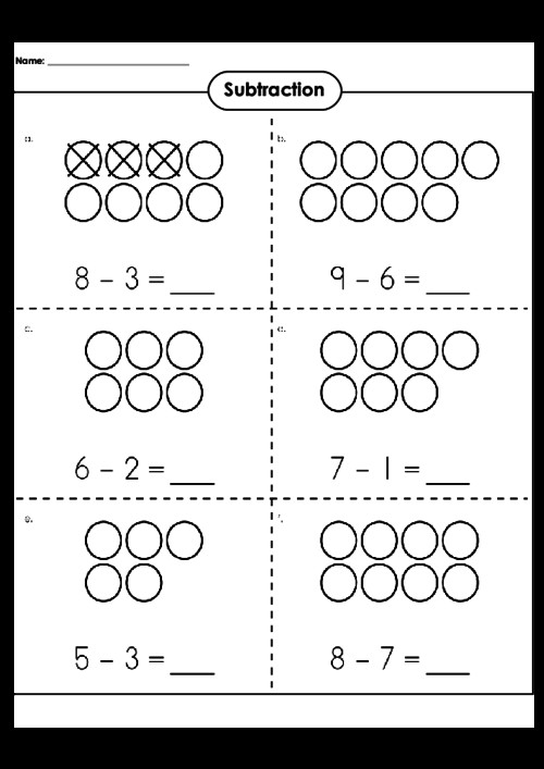 Basic Subtraction Worksheet