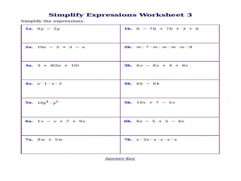 Worksheets For Simplifying Expressions size 800 x 600 px source 4 bp