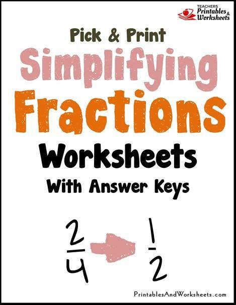 Simplifying Reducing Fractions to Lowest Terms