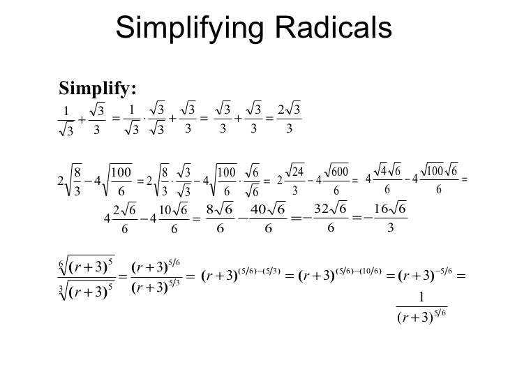 Simplify Radicals With Variables Simplifying Radical Expressions Rational Exponents Equations 20 728 Illustration Enchanting