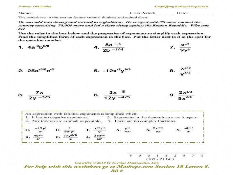 "9 photos of the ""Simplify Radicals Worksheet"""